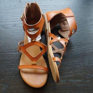 Brand New Rock + Candy Sandals w/Zipper